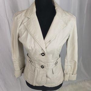 Ann Taylor Cotton T Button Jacket